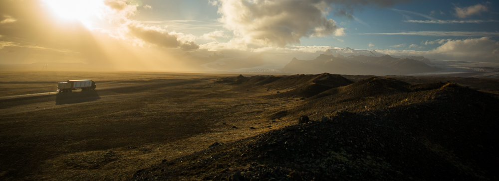 Iceland ring road sunset