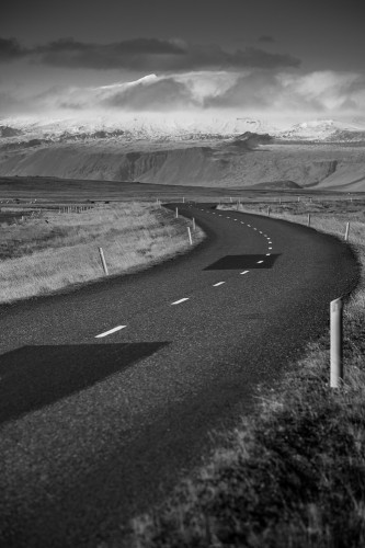 Snaefellsnes road in Iceland