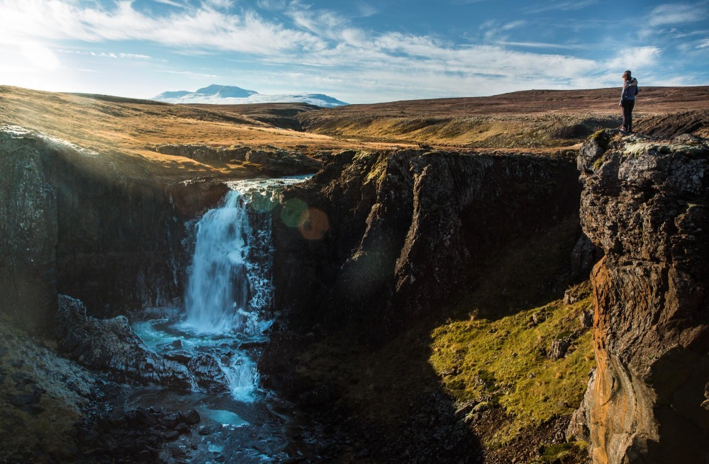 Waterfall F586 Road Iceland