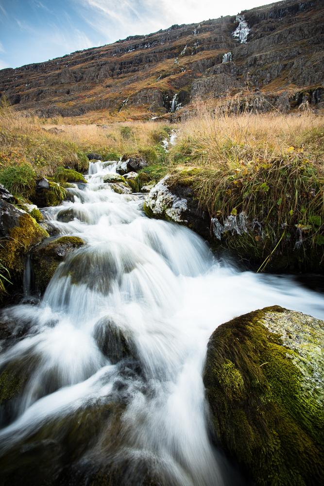 Waterfall, seyðisfjörður, Iceland