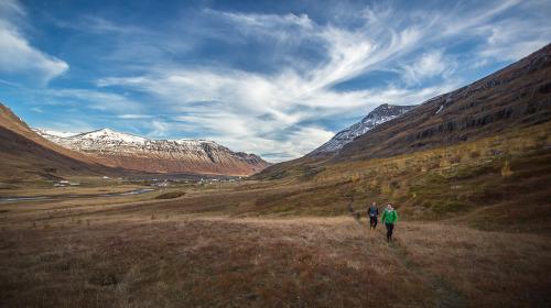 Hiking, Seyðisfjörður, Iceland