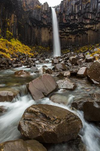 Svartifoss, Iceland, Waterfall