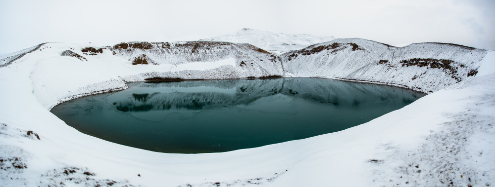 Iceland Viti Lake Myvatn
