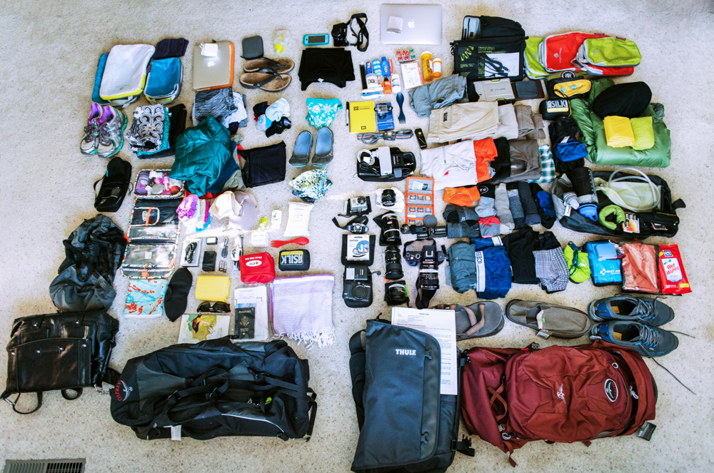 Our year of travel: RTW Packing Lists at the Start
