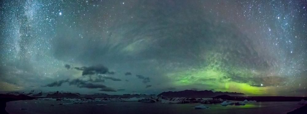 Iceland, Aurora Borealis, Glacier Lagoon
