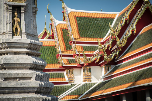 Colorful Roofs of Wat Pho