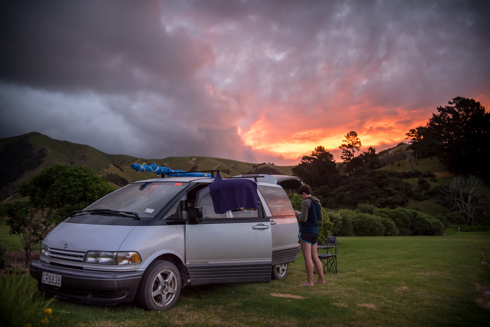 New Zealand, camping, campground Paradise