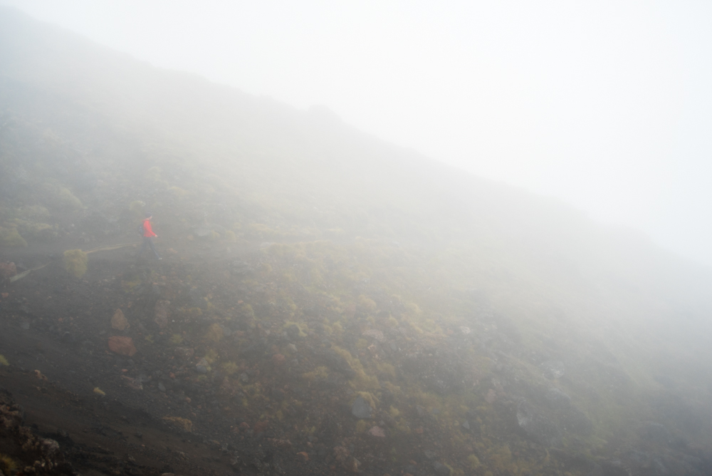 The Tongariro Alpine Crossing on a bad day