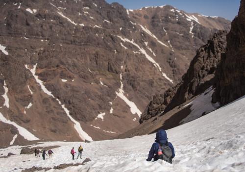 Morocco, Hiking, Travel, Glissading