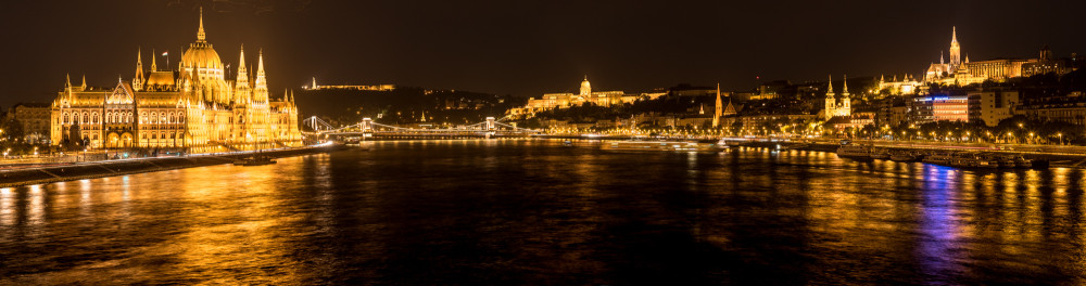 The Danube and Budapest from the Margit Hid