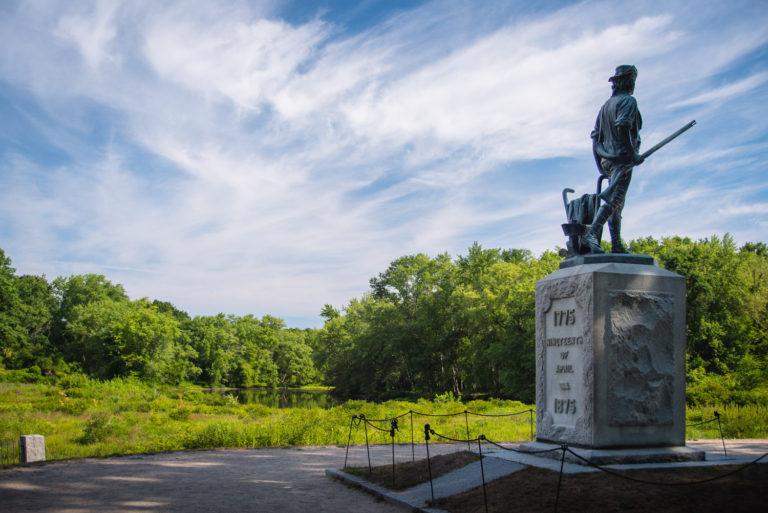 Massachusetts, Concord. Minute Man National Park